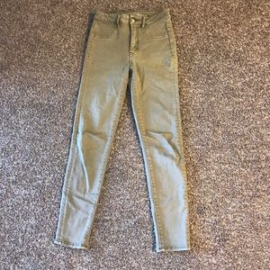 American Eagle High waisted Tan Jeans
